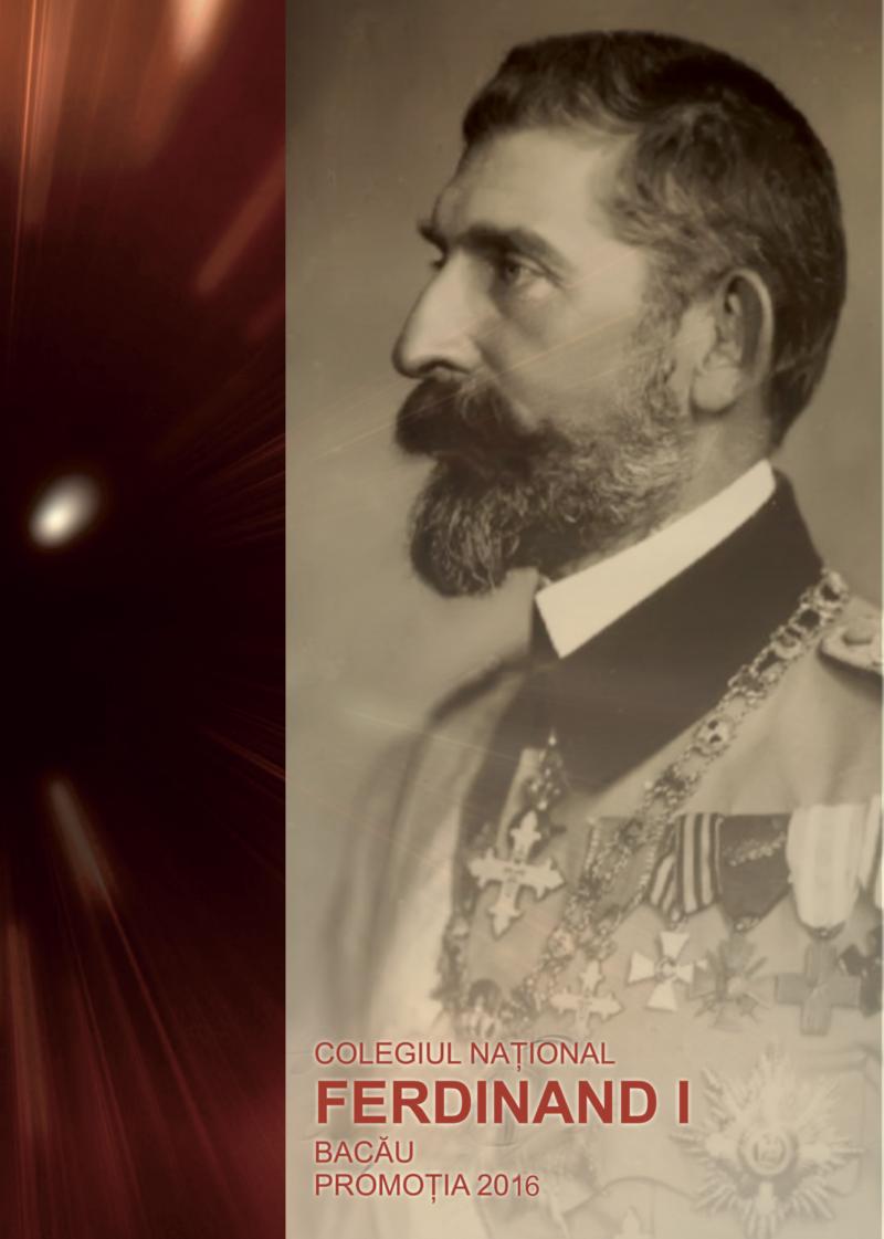 Tipografia Elena Bacau Album Absolvire Ferdinand 1