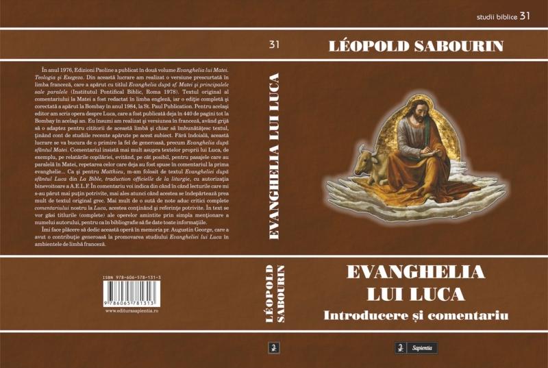 Tipografia Elena Bacau Coperta Sapientia Evanghelia Lui Luca