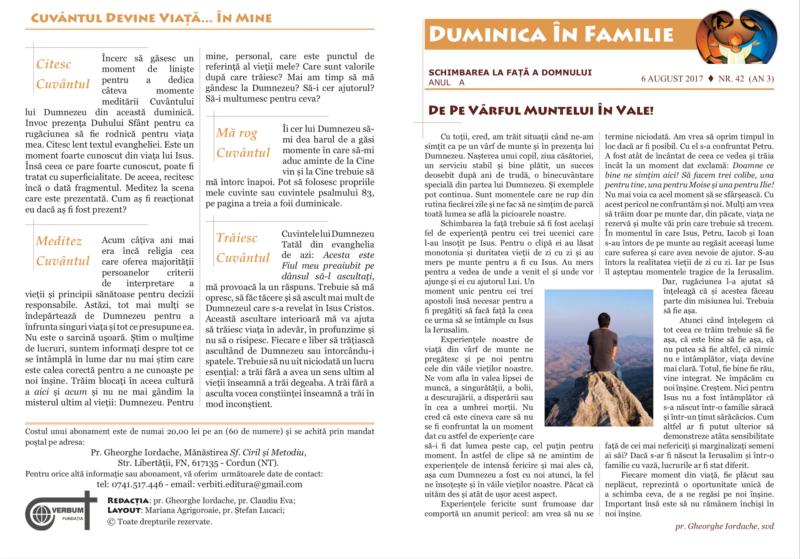Tipografia Elena Bacau Duminica In Familie