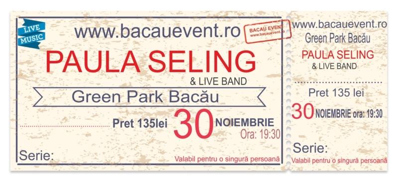 Tipografia Elena Bacau Concert Paula Seling